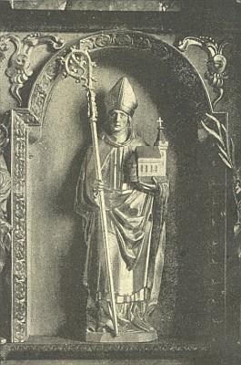 Gotická monstrance a boční oltář sv. Volfganga se sochou světcovou z kostela sv. Markéty v Horní Plané