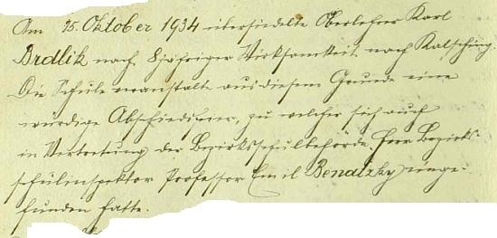 Záznam o jeho odchodu z Kájova do Chvalšin v roce 1934 v obecní kronice se zmínkou o důstojné slavnosti na rozloučenou za účasti okresního školního inspektora Emila Benatzkyho