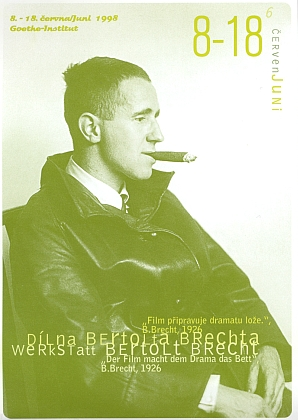 """Pozvánka pražského Goethe-Institutu na program """"Brecht a film"""" v roce 1998"""