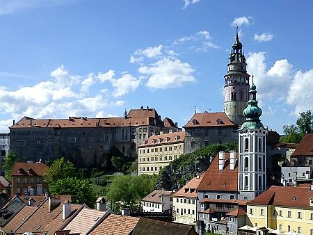 Českokrumlovský zámek se svou věží