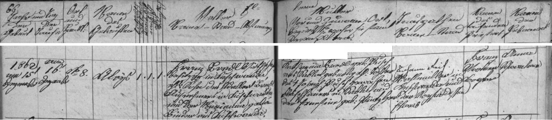 Záznam o jeho narození v kunžvartské křestní matrice