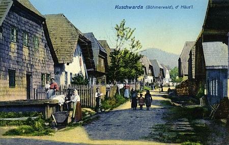 Rodný Kunžvart na pohlednici Josefa Seidela z roku 1911