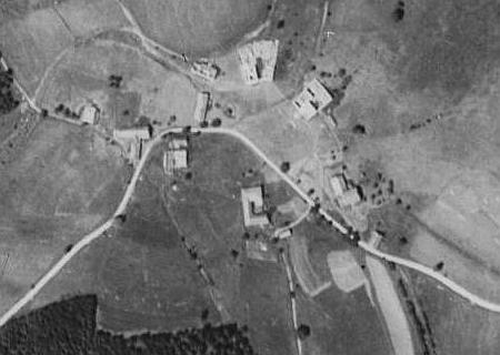 Krásná Pole na leteckých snímcích z let 1952 a 2008