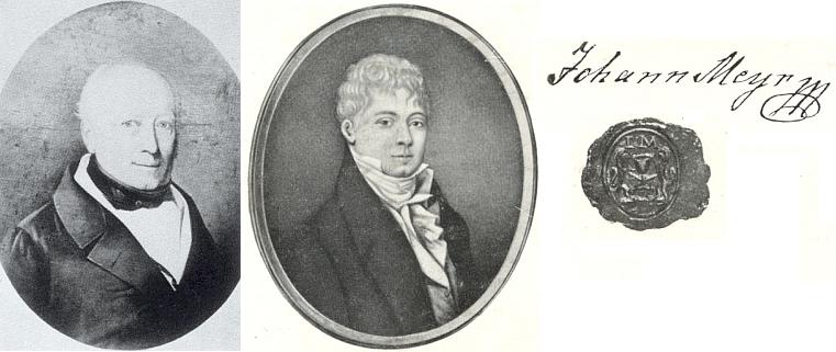 Paul a Johann Meyrovi, provozující na přelomu 18. a 19. století jeden z největších komplexů sklářských hutí nejen na Šumavě, nýbrž v celém Rakousku