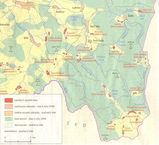 Zánik a pustnutí lidských sídel na jihu Novohradska po roce 1946