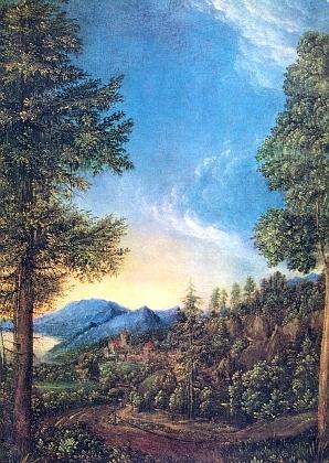 Obraz Dunajská krajina u Řezna, který Albrecht Altdorfer (1480-1538) namaloval někdy v letech 1520-1525, je nejen oslavou Brittingových rodných míst, nýbrž odkazuje ik Hansi Watzlikovi, jehož román oAltdorferovi Der Meister von Regensburg (tj. Řezenský mistr) z roku 1939 byl příčinou, proč mu Brittingovo rodné Řezno jako poválečnému vyhnanci z Nýrska poskytlo útočiště