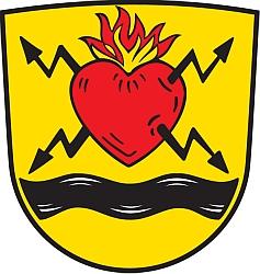 Znak bavorské obce Schönthal, o níž je řeč v jeho textu Návrat do Čech