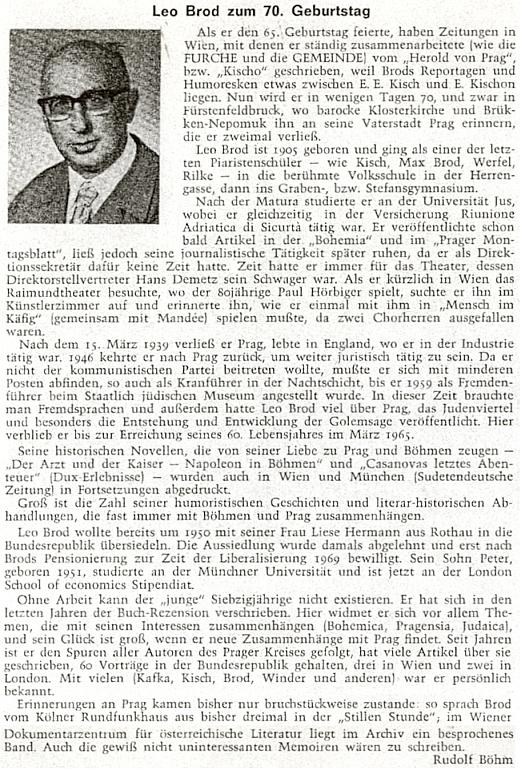Pozdrav k jeho sedmdesátinám na stránkách krajanského časopisu