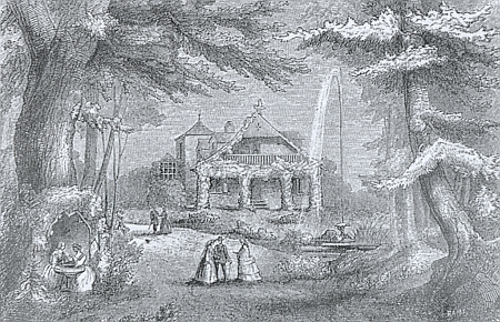 Rezidence Steigerwaldových v Rabensteinu se svou velkoryse koncipovanou zahradou