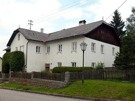 Dům ve Windhaagu, ve kterém žil v letech 1841-43