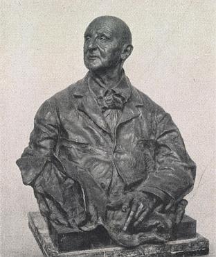 Bronzová bysta, jejímž autorem je sochař Viktor Tilgner, je umístěna ve vídeňském Stadtparku
