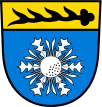 Město Albstadt v Bádensku-Württembersku, kde zemřel, má ve znaku jelení paroh a květ pupavy
