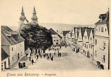 Poběžovice na staré pohlednici