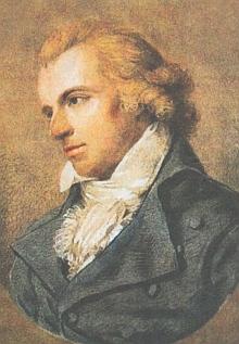 Friedrich Schiller na portrétu Ludovike Simanowizové (1759-1827) z roku 1794
