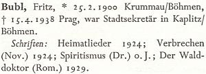 O něm ve velkém německém literárním lexikonu