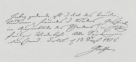 Dopis, který mu napsal Goethe 13. září 1818