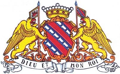 Znak rodu de Longueval-Buquoy i se štítonoši