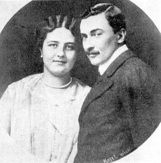 Hrabě Karel Jiří Buquoy (1885-1952) se svou chotí Valerií, roz. hraběnkou Kinskou (1914-1963)