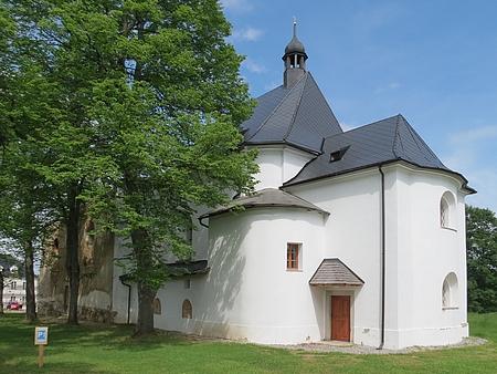 Kostel v Pohoří na Šumavě v roce 2013