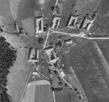 Žlábek na leteckých snímcích z let 1949 a 2008
