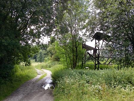 Dnešní pohled na bývalou náves v Rychnůvku