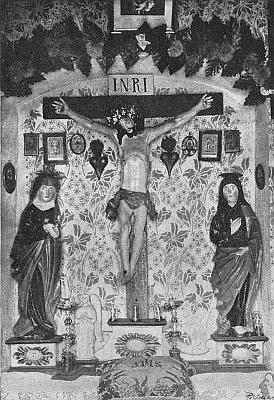 Někdejší interiér kaple v rodném Bučí