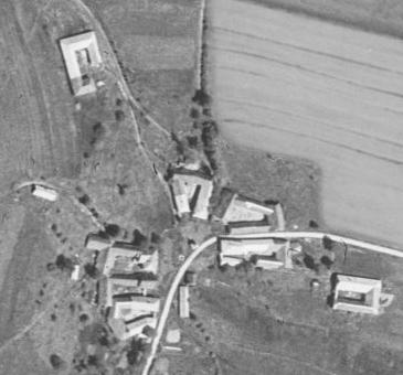 Bučí na leteckých snímcích z let 1949 a 2018