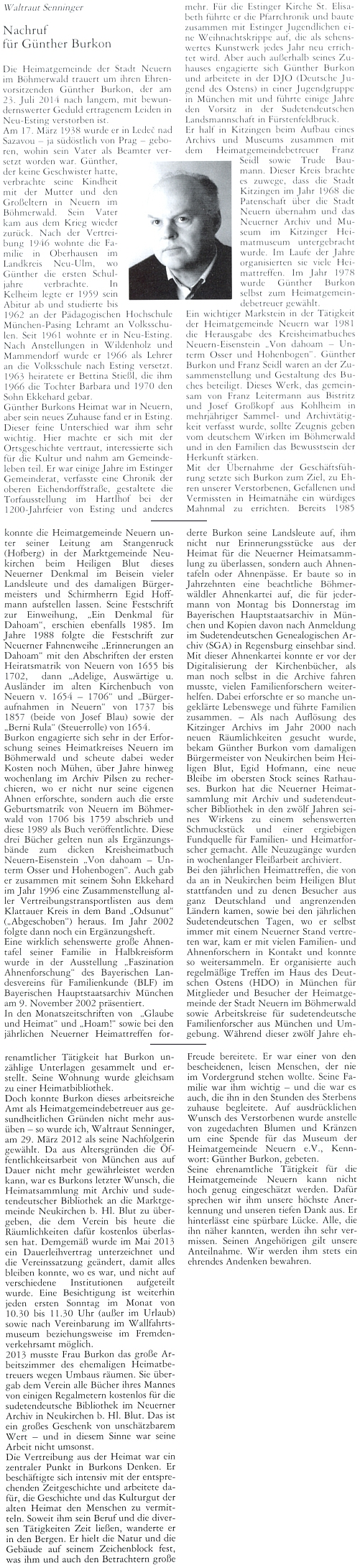 "Parte ""šumavského"" ministra a statkáře JUDr. Gustava Schreinera v Budweiser Zeitung"