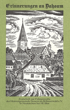 Obálka (1988) knihy o Nýrsku, na jejímž vzniku měl zásadní podíl, s grafikou Waltera Grössla, zachycující kostel sv. Tomáše s přilehlým hřbitovem nad řekou Úhlavou