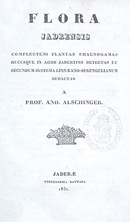 Titulní list Alschingerovy práce o jadranské květeně