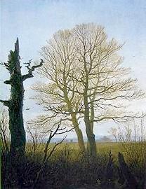 Jeho obraz Strom v předjaří