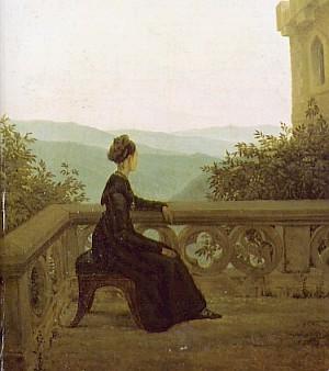 Obraz Žena na balkóně (1824)