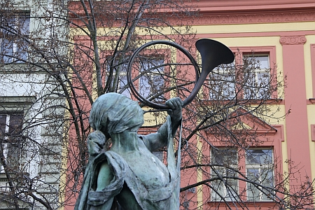 Detaily soch fontány
