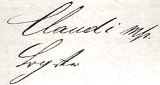 Podpis na dokumentu z fondu SOkA České Budějovice