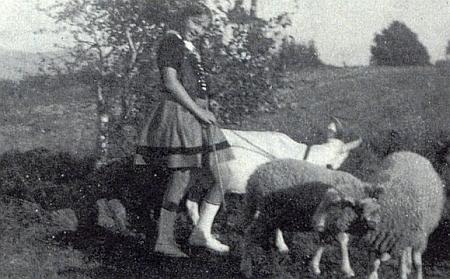 Na snímku z roku 1929, kdy jí bylo třináct let