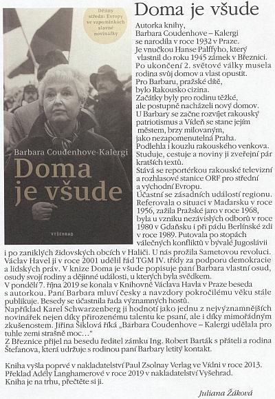 Recenze překladu její knihy na stránkách českobudějovického periodika Historického spolku Schwarzenberg