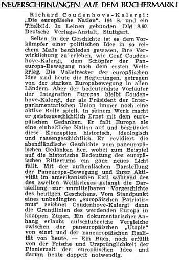 """Recenze jeho knihy """"Evropský národ"""" na stránkách Sudetendeutsche Zeitung"""
