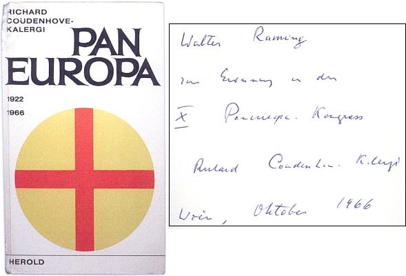 Jiné vydání jeho knihy (1966, nakladatelství Herold veVídni a Mnichově) s autorovým věnováním Walteru Ramingovi