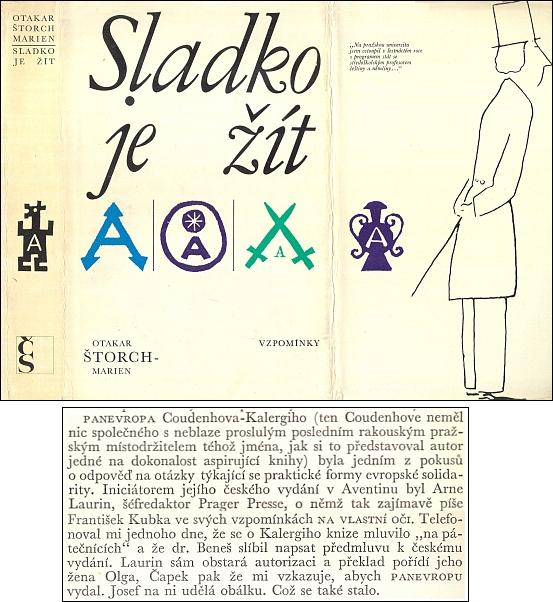 V pamětech nakladatele Aventina najdeme i tuto pasáž o prvním českém vydání Panevropy