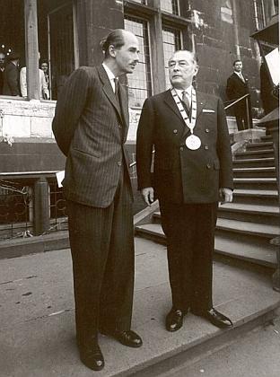 S Ottou von Habsburg v roce 1950, kdy mu byla udělena cena Karla Velikého