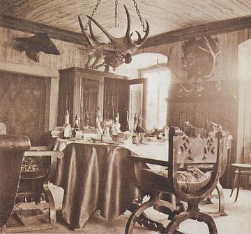 Lovecký pokoj zámečku Diana