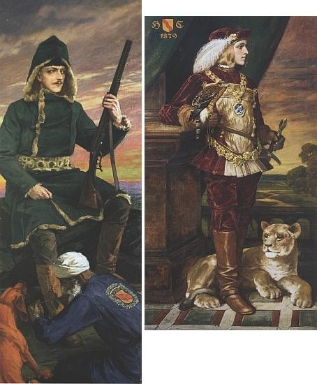 Dva jeho portréty jako neohroženého lovce a romantického hrdiny vytvořil Alfréd Offner (*1879 v Černovicích na dnešní Ukrajině, †1947 v Poběžovicích)