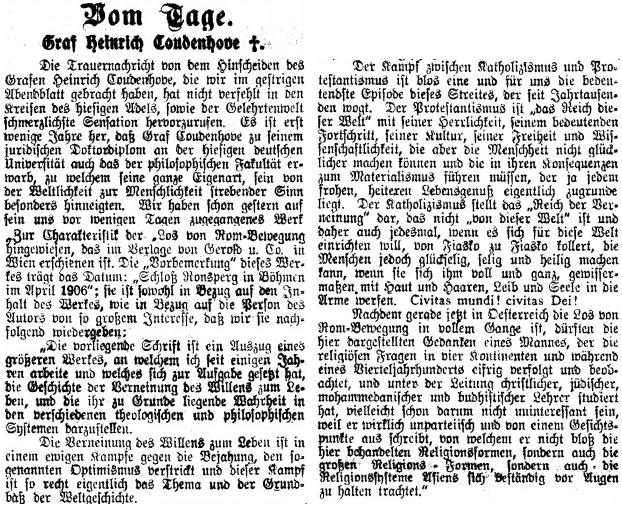 Nepodepsaný nekrolog v pražském německém listu