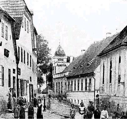 Dobový snímek z Ronšperku z roku 1910