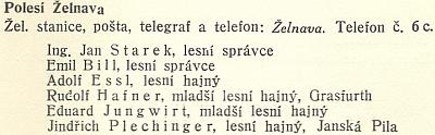 Otec Johann (Jan) Starek na stránkách jediné česky vydané Schwarzenberské ročenky z roku 1935