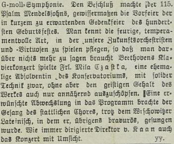 """Její jméno figuruje s hvězdičkou """"vzorná"""" na seznamu žákyň 4. ročníku německého dívčího lycea"""