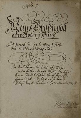 Titulní list záblatské kroniky