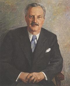 Jeho portrét z roku 1959, který vytvořl malíř Rudolf Wernicke (1898-1963)