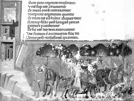 Vyobrazeni hradu Přimda v latinském překladu Dalimilovy kroniky (kolem roku 1330)