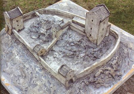 Rekonstrukce původní podoby hradu Přimda